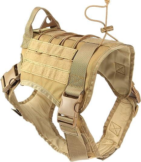 dDanke Service - Arnés táctico para perro, militar, militar, para ...
