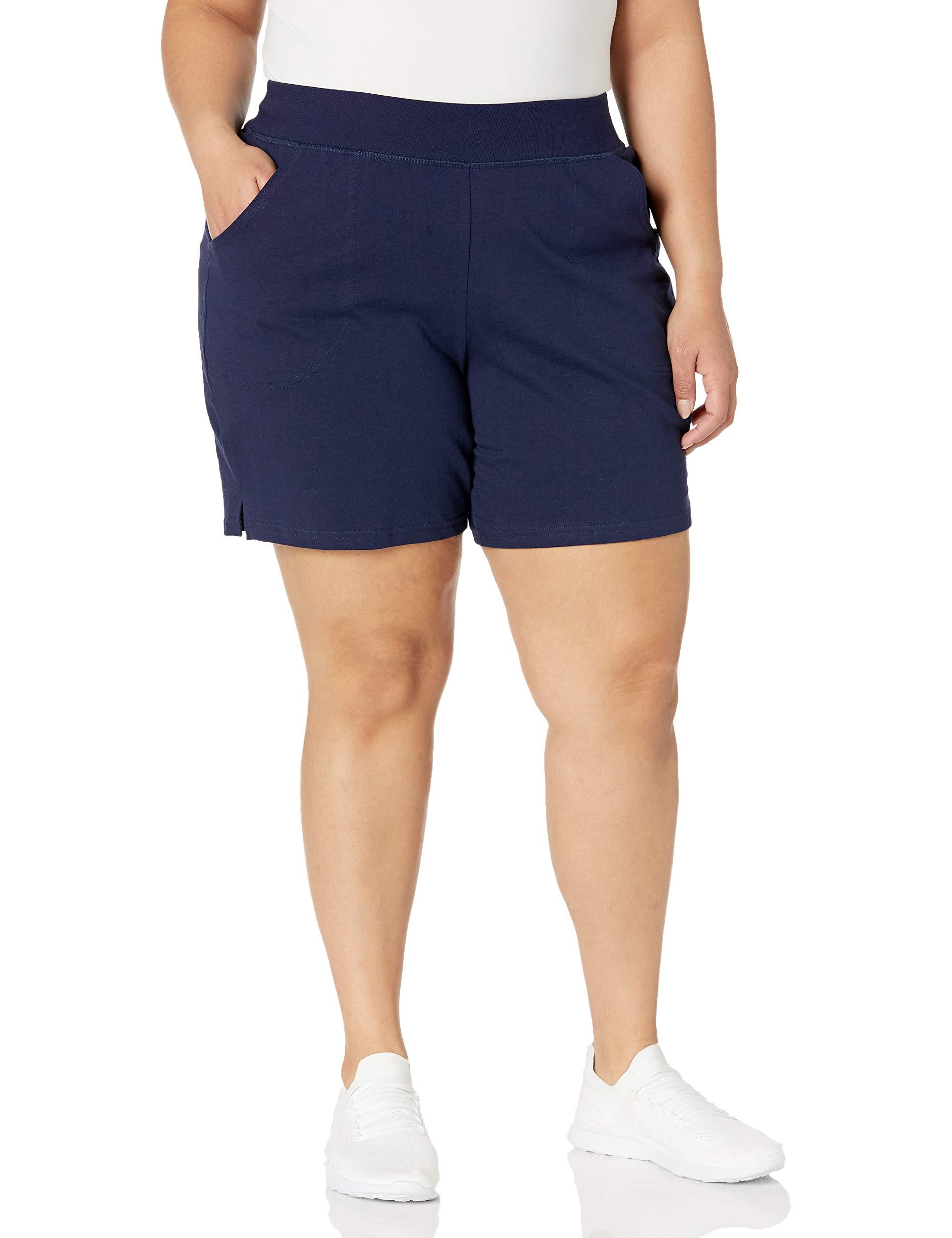Women's Plus Cotton Jersey Pull-On Shorts