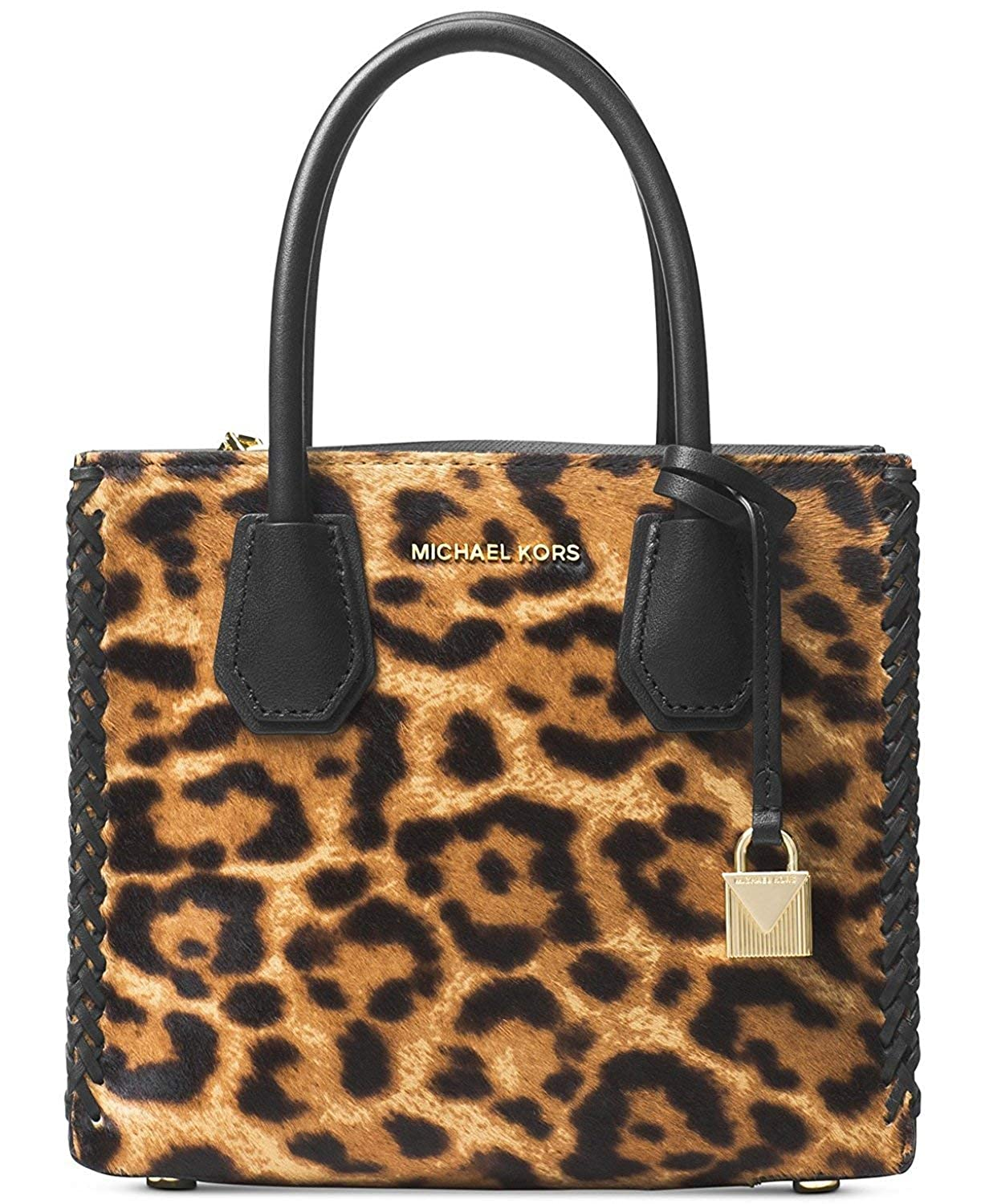 9395d7b04cee Amazon.com: Michael Kors Mercer Leopard Print Leather Crossbody  30F7GM9M2H226: Watches