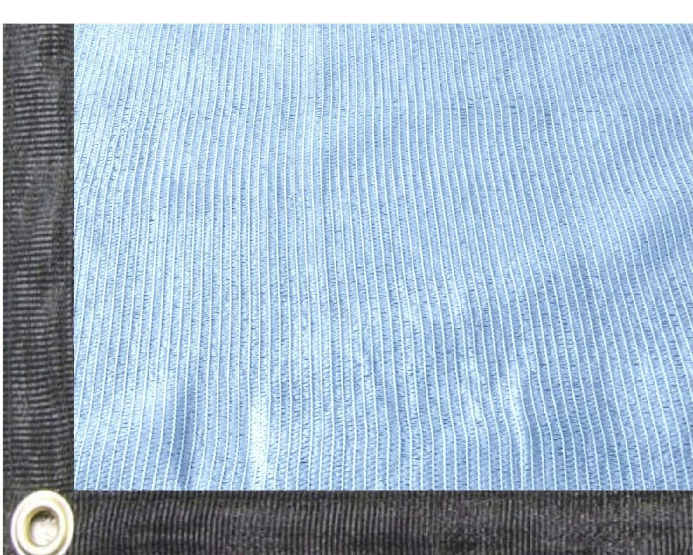 EasyShade 80% Quality White Sunblock Shade Cloth Taped Edge with Grommets UV 14' Width (14 x 14)
