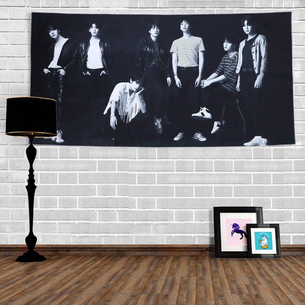 Grapes Garden Kpop BTS Bangtan Gar/çons Plage Serviettes Couverture Tenture murale Tapisserie De Mode D/écoration Star Banni/ère Ch/âle D/écor /À La Maison Affiche 100*50cm H1 Version O+R+U+Y