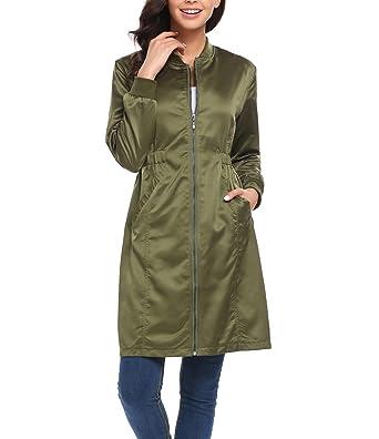 Amazon.com: CORGY para mujer abrigos y chaquetas Otoño largo ...