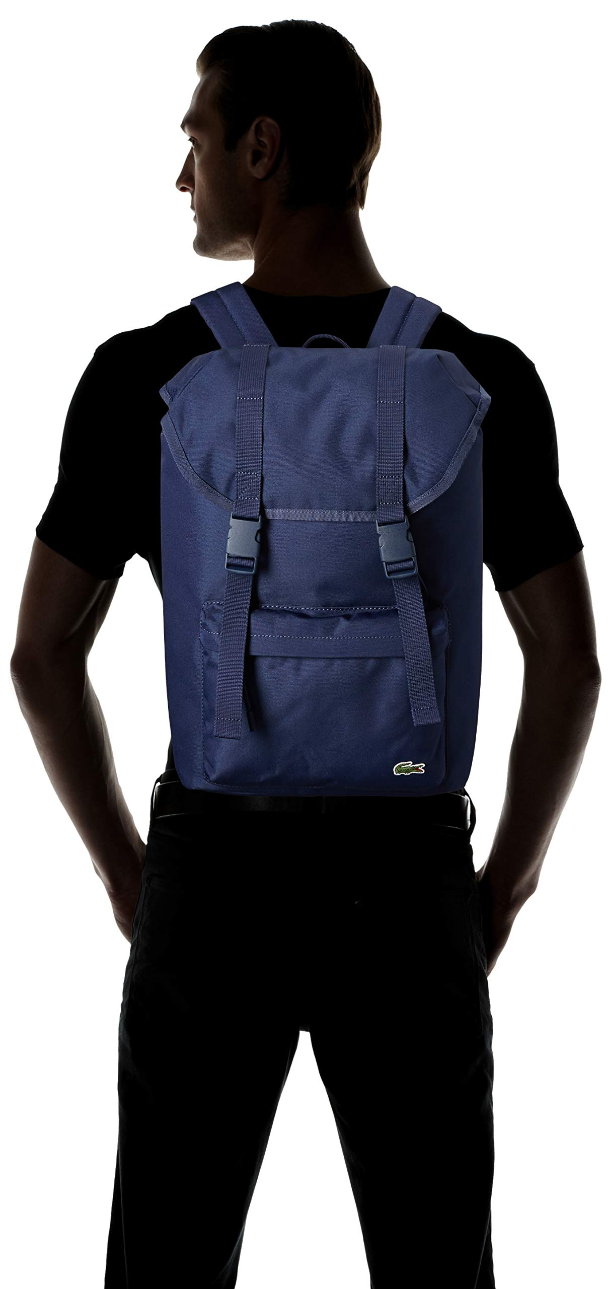Lacoste Men's Neocroc Flap Backpack, Peacoat, 00 by Lacoste (Image #4)