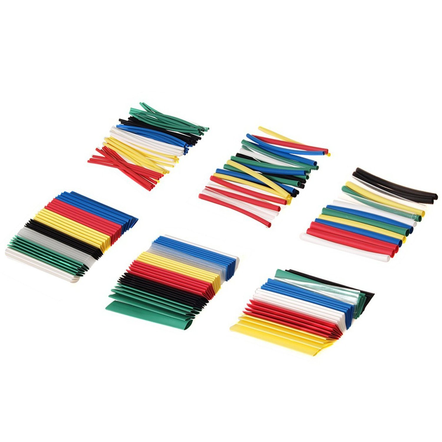 1, 196 pieces 7-colored Maclean MCTV-679 Shrink Tubing Assortment 196 Pieces 7-Color Shrink Tubing Plastic Tube 95mm