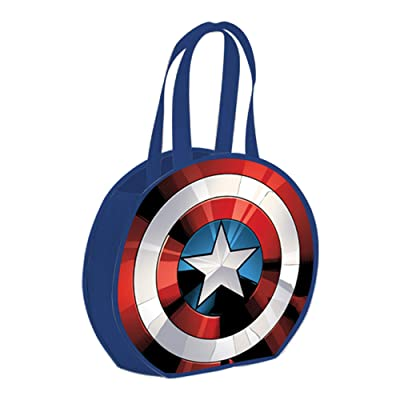 Vandor Captain America Shield Round Recycled Shopper Tote: Toys & Games