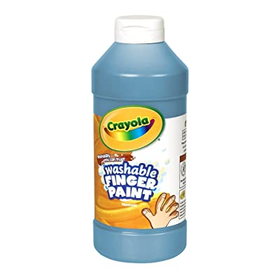 Crayola Fingerpaint, Blue, 32 Ounces, Washable Kids Paint, Ages 3+: Toys & Games