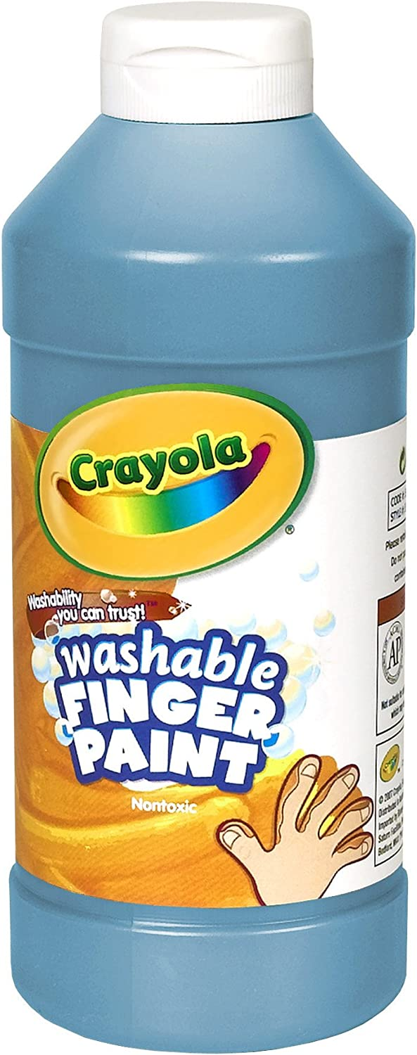 Crayola Fingerpaint, Blue, 32 Ounces, Washable Kids Paint, Ages 3+ (55-1332-042): Toys & Games