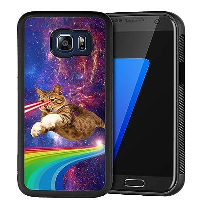 Amazon.com: Funda para Samsung Galaxy S6, carcasa de goma ...