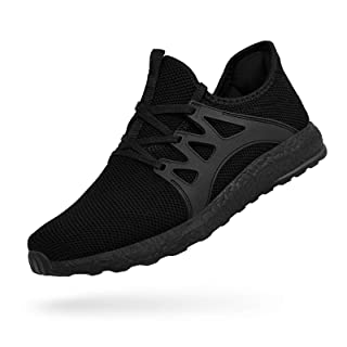 MARSVOVO Men's Training Sneakers Athleitic Sprorts Running Shoes Breathable Causal Work Shoes Black Size 12
