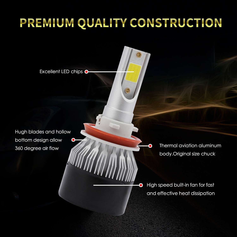 9005 LED Headlight Bulbs Conversion Kit HB3 High Beam//Fog Light Bulb Light Assemblies Hide Kit Upgraded 60 x DOB Chips Headlight Replacement 6500K 6000LM Xenon White 2 PCS