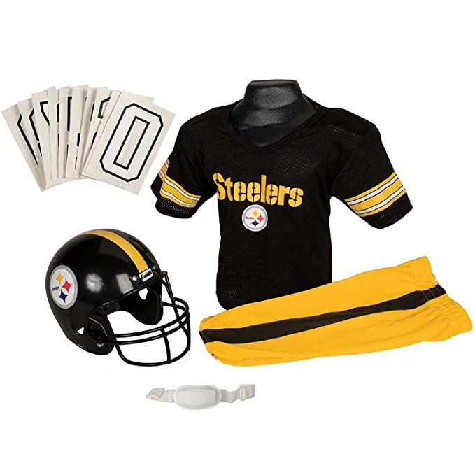 ea2d20e44 Amazon.com   Franklin Sports NFL Pittsburgh Steelers Youth Licensed Deluxe  Uniform Set