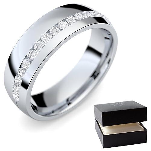 Individualmente con anillos de boda mujer (Mujer) Oro Blanco alianzas de matrimonio Ring/
