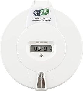 e-Pill MedTime Plus – Advanced Locked Automatic Pill Dispenser - White Lid