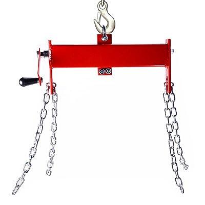 Orion Motor Tech 2 Ton (4000lbs) Engine Hoist/Shop Crane/Cherry Picker Load Leveler with Chains: Automotive