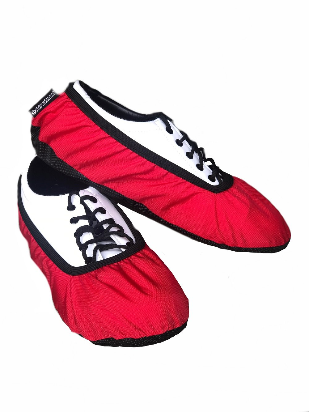 MyShoeCovers Premium Bowling Shoe Covers - Pair | Durable Quality Construction | Red - Medium