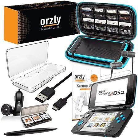 Orzly Accesorios 2DSXL, Pack New Nintendo 2DS XL [Paquete Incluye: Cargador de Coche/Cable USB/Funda para Consola/Fundas para Cartuchos y más…] (Véase descripción para más información): Amazon.es: Electrónica
