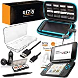 2DSXL Accessories, Orzly Ultimate Starter Pack for New Nintendo 2DS XL (Bundle Includes: Car Charger/USB Charging Cable/Console Case/Cartridge Cases & More. (See Full Description for Details)