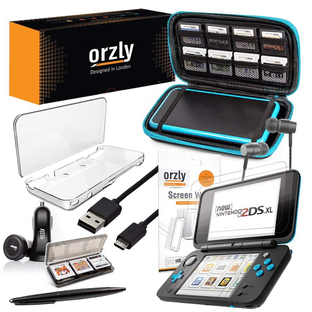 ORZLY® Accesorios 2DSXL, Pack New Nintendo 2DS XL [Paquete Incluye: Cargador de Coche/Cable USB/Funda para Consola/Fundas para Cartuchos y más…] ...