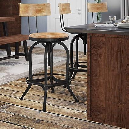Surprising Amazon Com Simple Living Products Swivel Bar Stool Evergreenethics Interior Chair Design Evergreenethicsorg