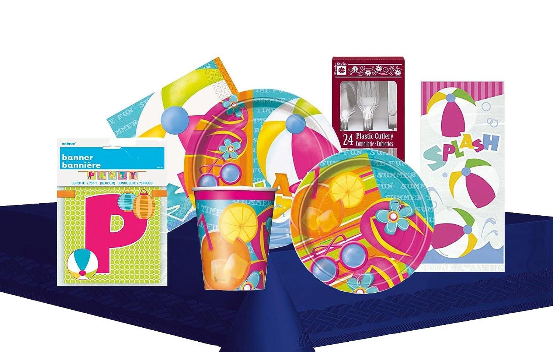 Amazon.com: Summer Pool Splash Themed Party Supply Kit Serves 8: Toys & Games