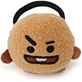 BT21 Official Merchandise by Line Friends - SHOOKY Character Plush Hair Tie, Brown