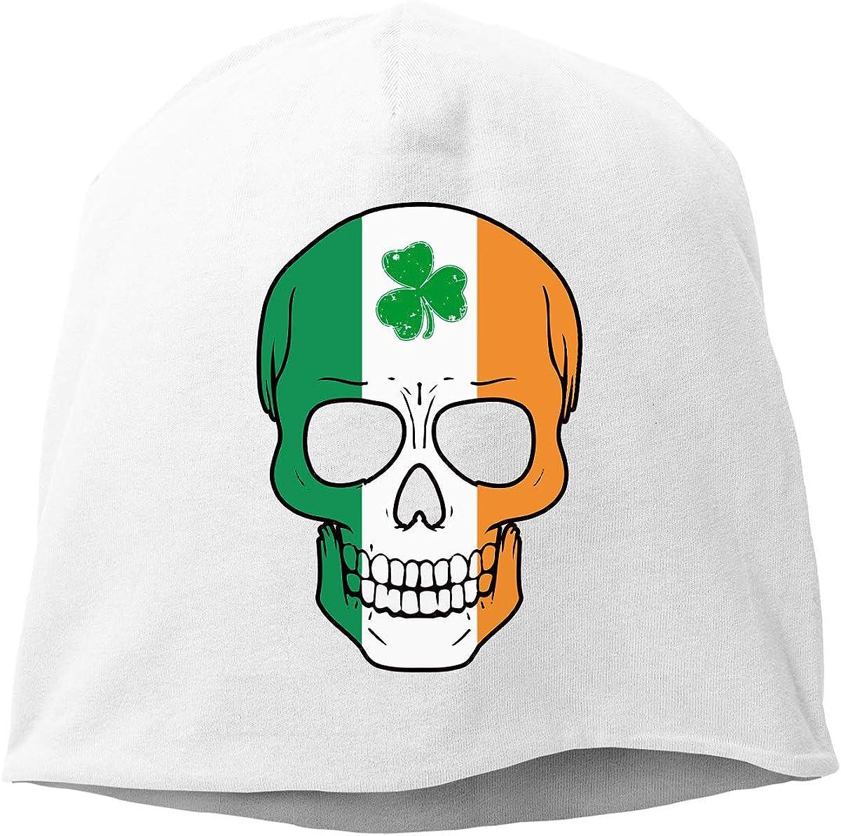 TLPM9LKMBM Irish Skull St Winter Warm Daily Hat Patricks Day Beanie Skull Cap for Women and Men