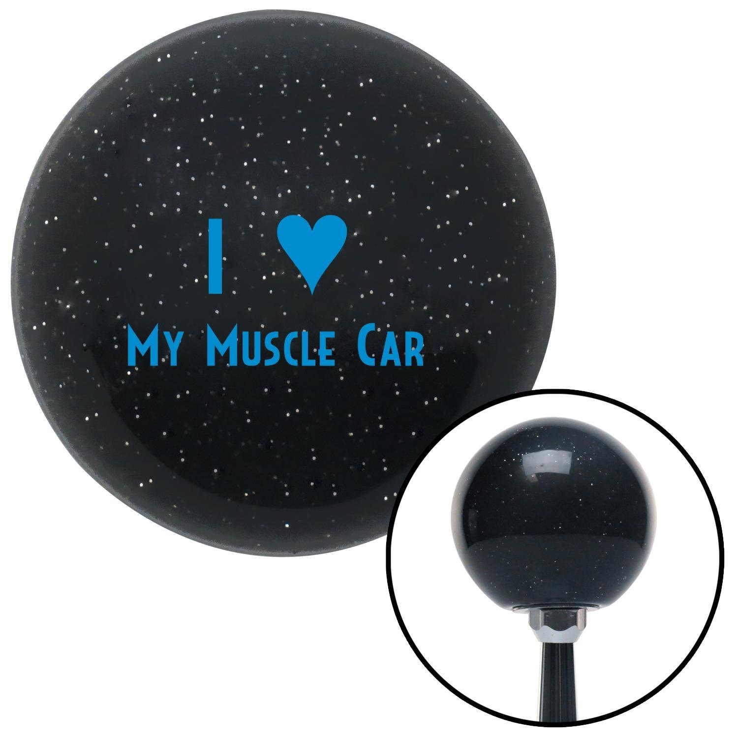 Blue I 3 My Muscle CAR American Shifter 71595 Black Metal Flake Shift Knob with M16 x 1.5 Insert