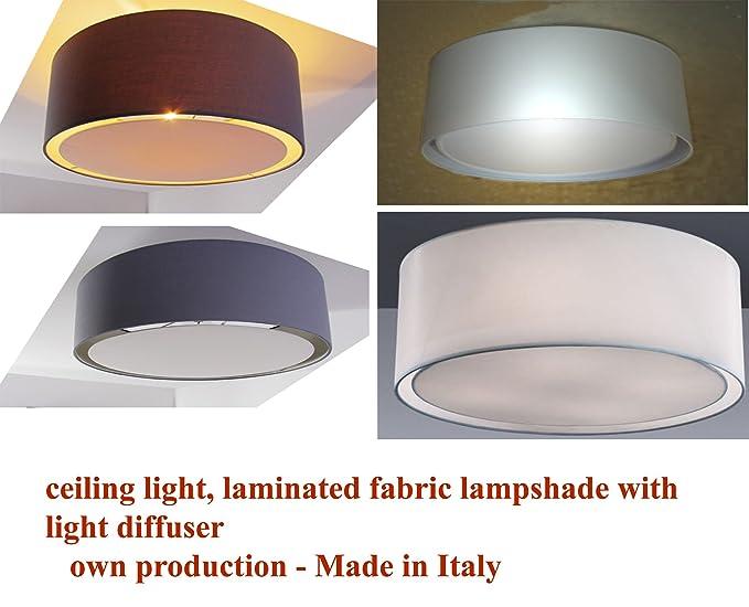 Plafoniera Tessuto Grande : Plafoniera da soffitto lampadario cilindro in tessuto con tappo