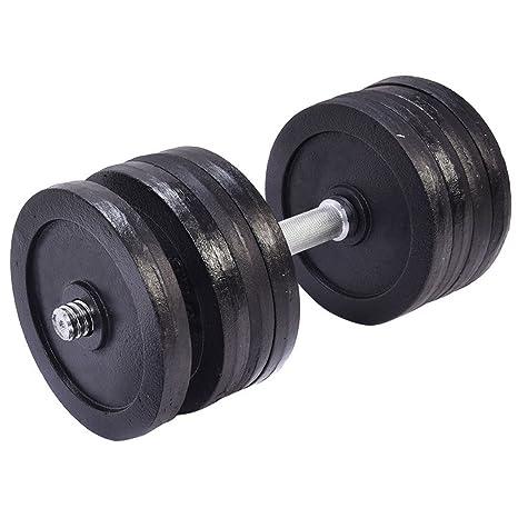 sportstorm gimnasio ajustable Peso de 6 kg para 200 kg de hierro fundido juego de mancuernas