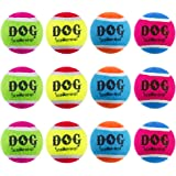 SCENEREAL Squeaky Tennis Balls for Dog 12 Packs - 2.5 Inches Tennis Ball Toys Non-Toxic Colorful High Bounce, Great…