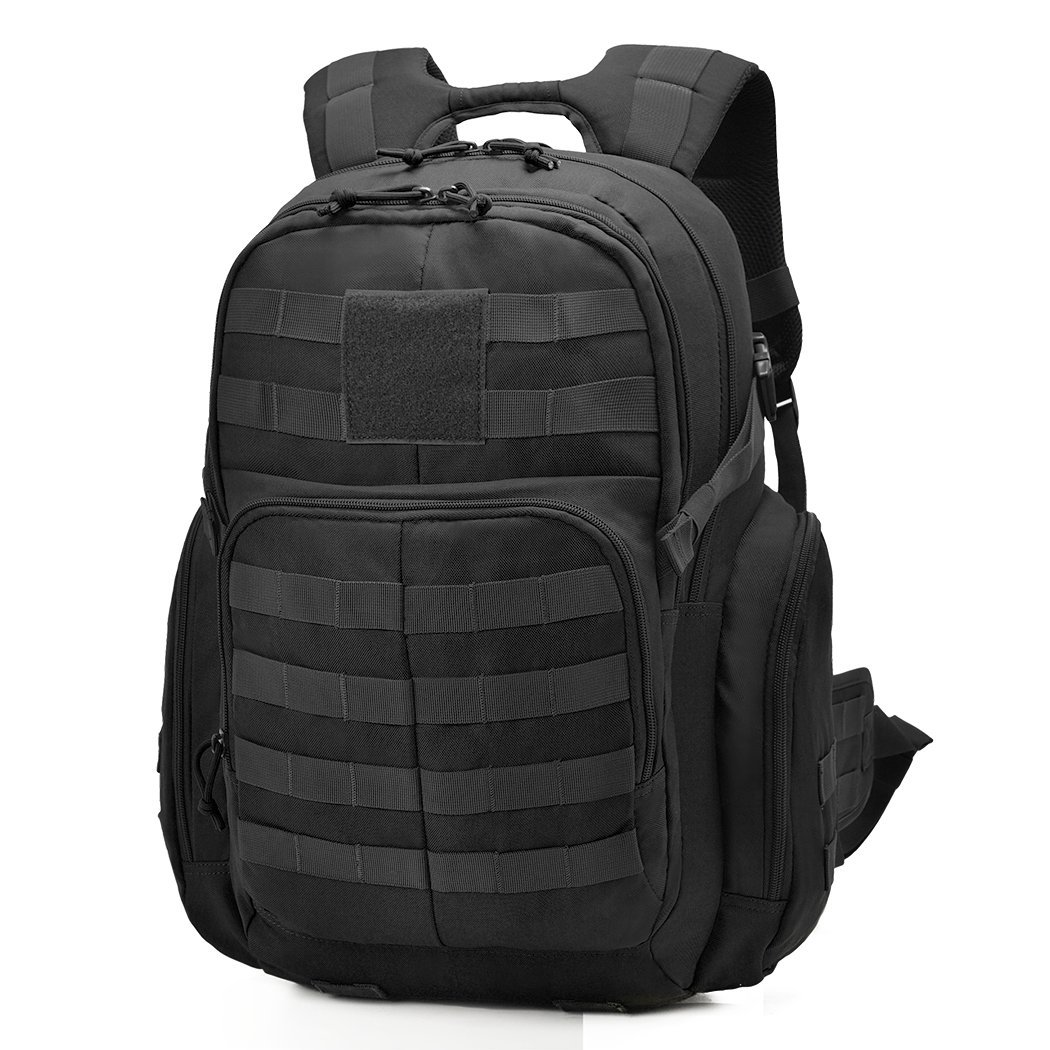 Mardingtop 35L Tactical Backpacks Molle Hiking daypacks for Camping Hiking Military Traveling WT0076-Black