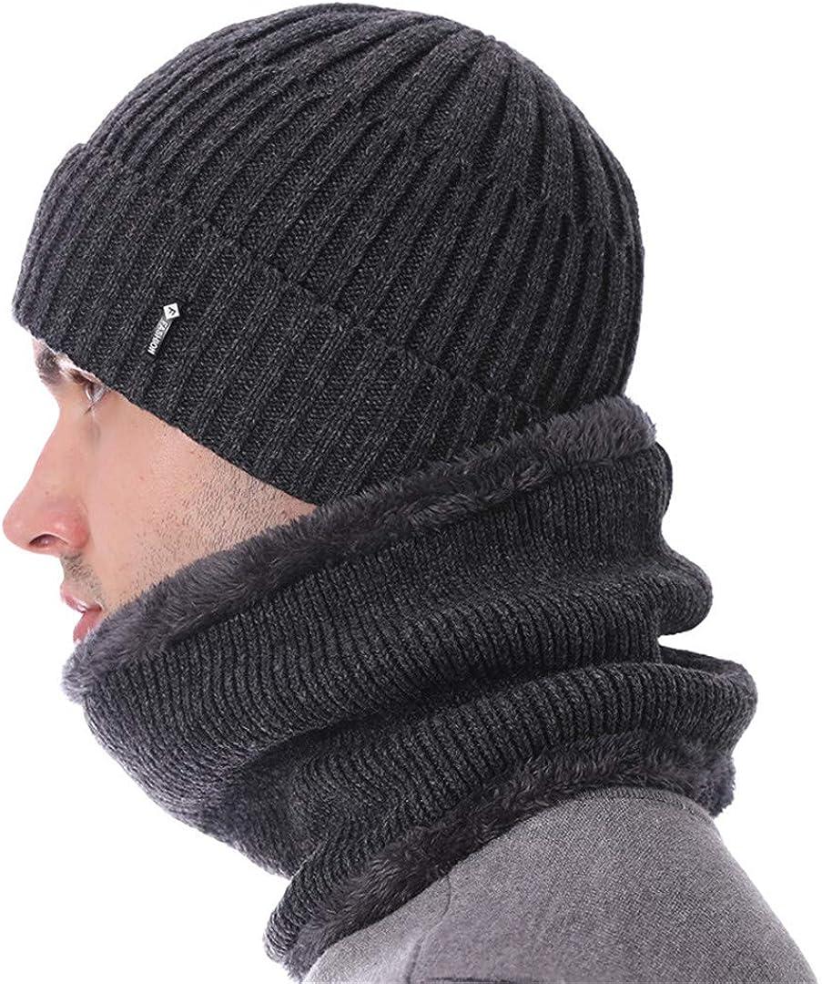 ZHENYSHKD Knitted Hat Scarves Men Skullies Beanies Winter Hat for Men Women Bonnet Fashion Gorras