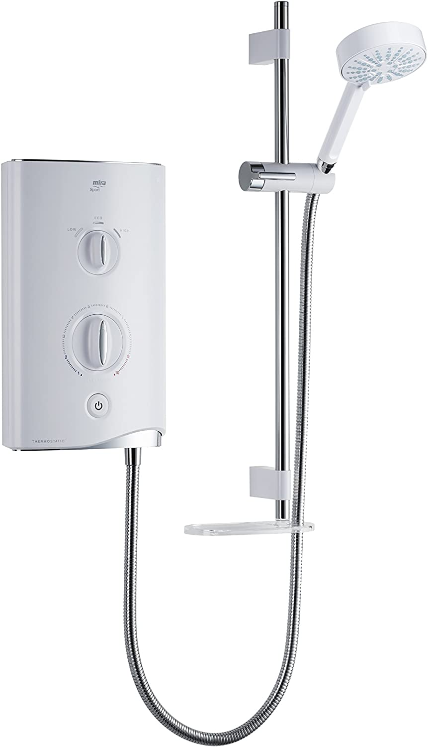 Mira Showers 1.1746.006 Sport 9.8 kW Thermostatic Electric Shower - White/Chrome