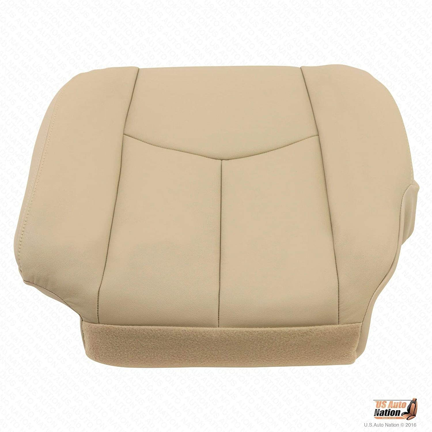 US Auto Nation Chevy Tahoe//GMC Yukon Driver Bottom Leather Seat Cover Tan