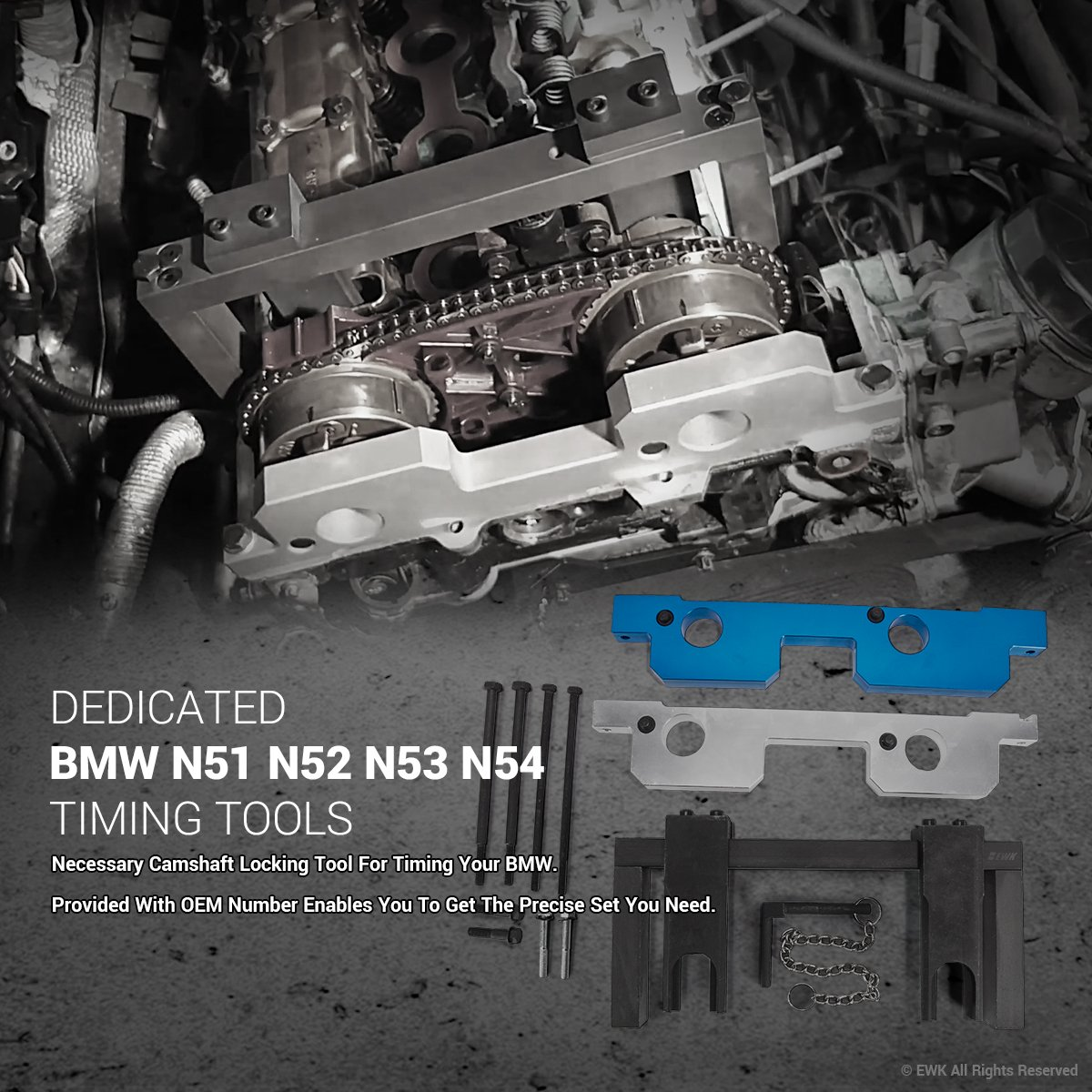 Ewk Engine Timing Cam Camshaft Alignment Locking Tool Bmw 325i Chain Kit For N51 N52 N53 N54 110300 114280 114290 118520 Automotive