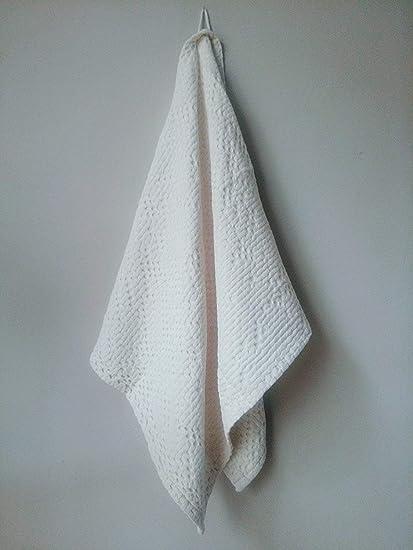 Toalla de baño o invitados 100% algodón superior de panal de abeja Gauffre 100 x
