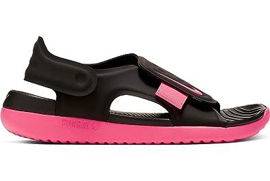 ff6fd670d2 Nike Little/Big Kids' Sunray Adjust 5 Sandal Black/Racer Pink, Size