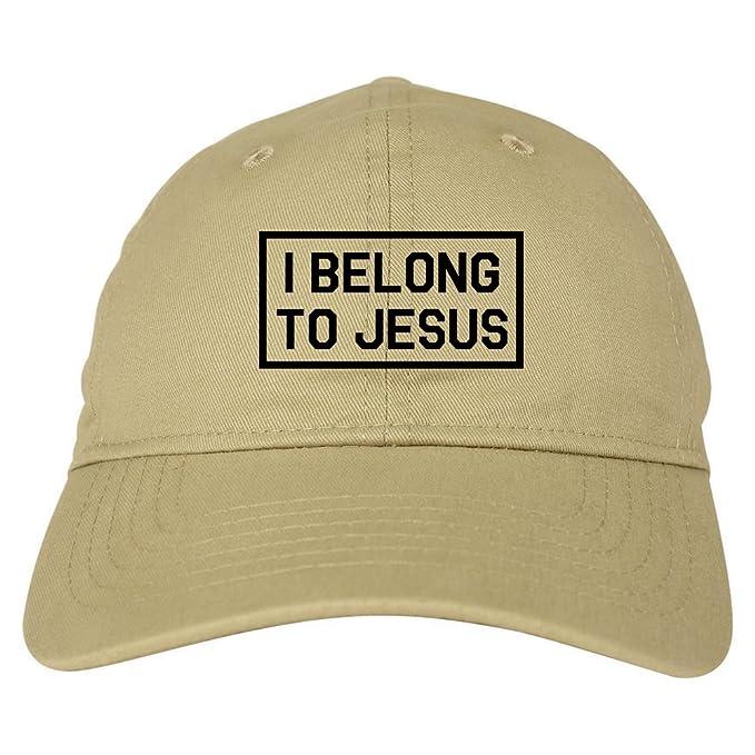 b8b6bd73c615d Kings Of NY I Belong to Jesus Mens Dad Hat Baseball Cap Beige at ...