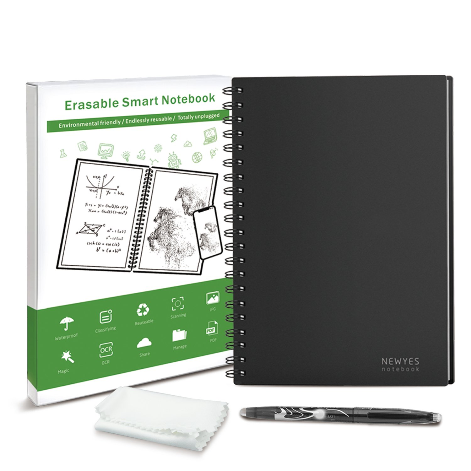 WOBEECO Smart Notebook (A5-Black)