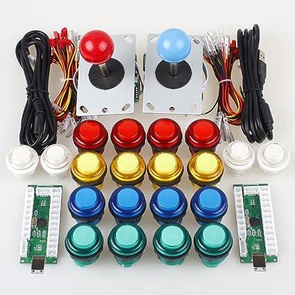Gamelec 2-Players Arcade Game Buttons Joystick Controller