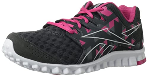 9aaa683c82d9a4 Reebok Footwear Women s RealFlex Scream 3.0 Running Shoe Gravel Flat  Grey Candy Pink