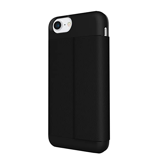 differently 1186b 02f28 iPhone 7 Case, Incipio Wallet Folio Case [Credit Card Case][Vegan Leather]  Cover fits Apple iPhone 7 - Black