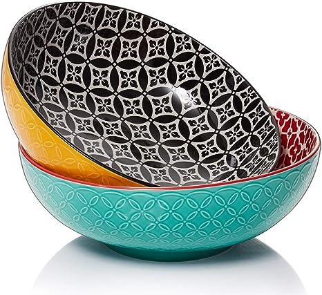 New Heart Design Stoneware Set Of 2 Mixing Bowls Kitchen Baking Salad Dish