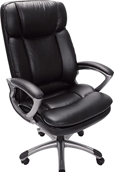 Serta 43675 Faux Leather Big U0026 Tall Executive Chair, Black