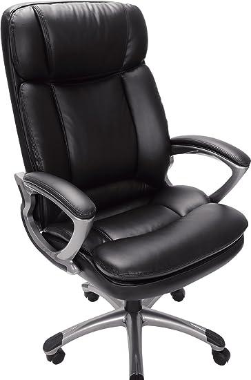 Amazoncom Serta 43675 Faux Leather Big Tall Executive Chair