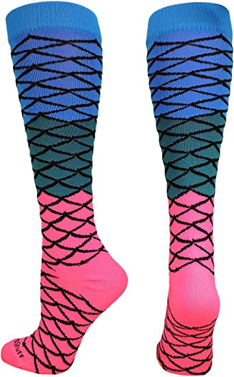 Neon Watermelon Athletic Over the Calf Socks