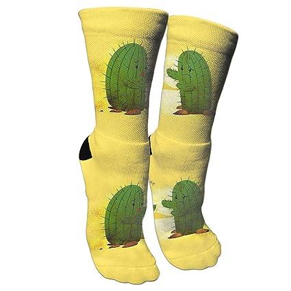 d0adc6a8891e Xixioou Hug Cactus Adult Athletic Compression Socks Training Socks Crew  Athletic Socks Long Sport Soccer Socks