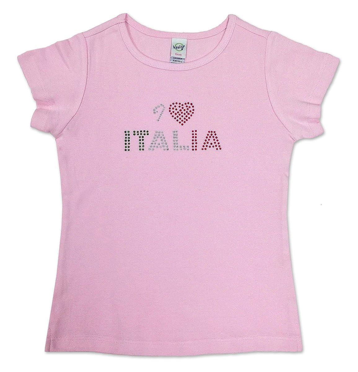 Amazon Com S T World Products I Heart Italia Baby Doll T Shirt