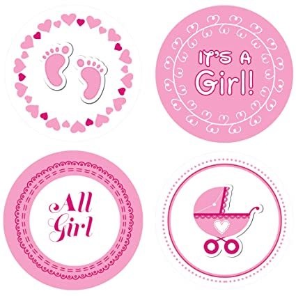 Buy It S A Girl Baby Shower Stickers Set Of 60 Online At Low