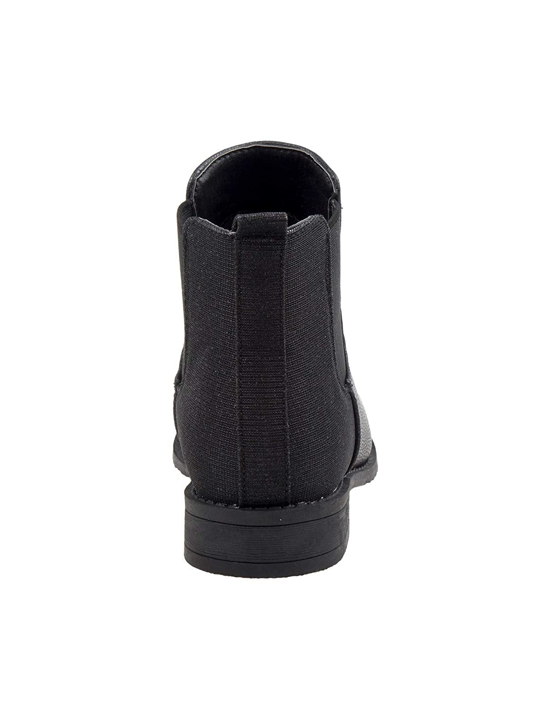 Nanette Lepore Girls Black Elastic Side Panel Closure Chelsea Boots 11-4 Kids